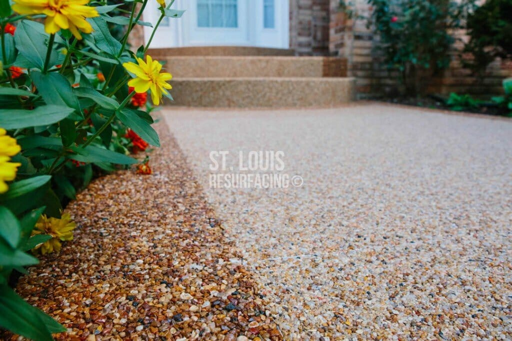 Pebble-stone epoxy in Chesterfield, Missouri by St. Louis Resurfacing