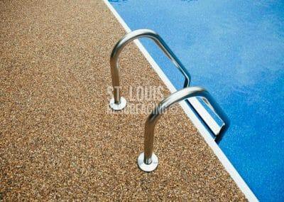 pebble-stone epoxy pool deck resurfacing in st. louis, missouri