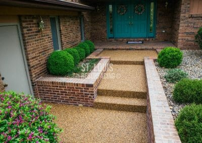epoxy-stone resurfacing porch and steps in st. louis, missouri.