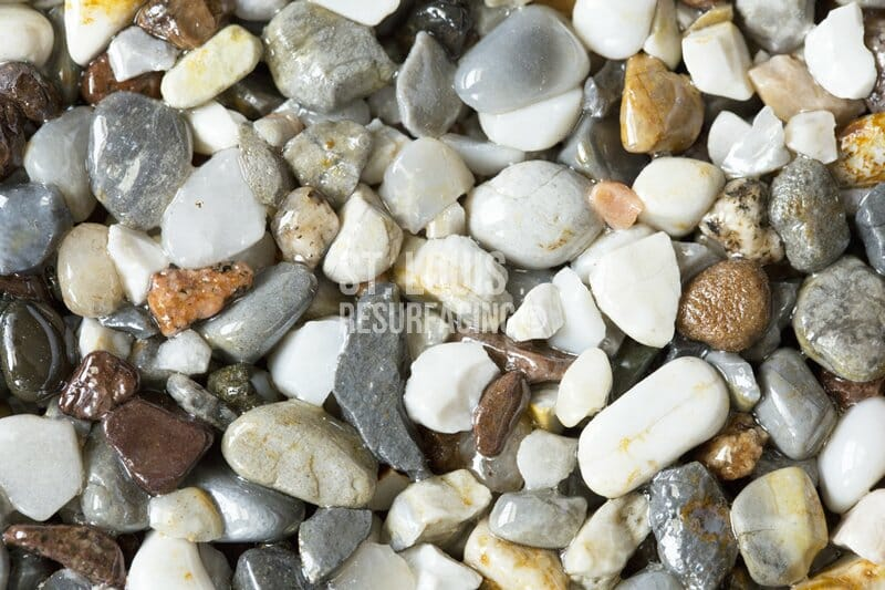 pebble-stone epoxy stone color